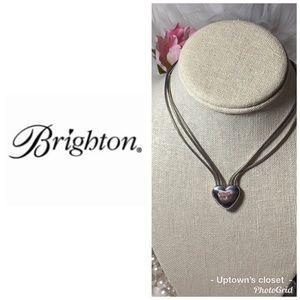 """BRIGHTON necklace silver """"Sparkling heart"""" euc"""
